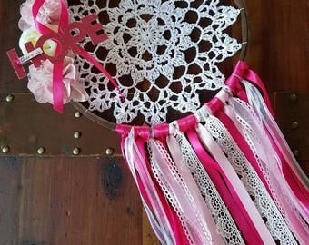 Breast Cancer Awareness Dreamcatcher