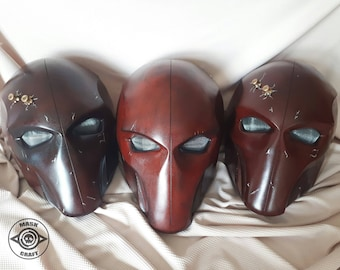 Inspired Redhood Mask, Helmet, Jason Todd, DC comics, Batman Arkham Origins, Cosplay Superhero, Robin, Battle Damaged, Bullets on magnets.