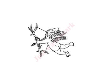 575 SVG/JPG Cupid with Aloy Bow - Hand Drawing