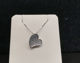 Vintage Heart Necklace with Hidden Bail VPL-13