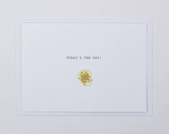 Today's The Day! Wax Seal Dried Flower Wedding Card