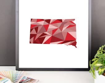 SOUTH DAKOTA State Pattern Map Print, South Dakota Poster, South Dakota Wall Art, South Dakota Art, South Dakota Gift, South Dakota Decor