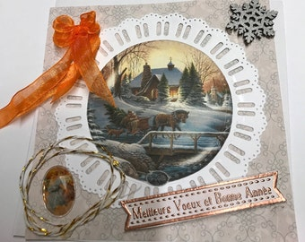 The tour of Santa Claus Christmas card