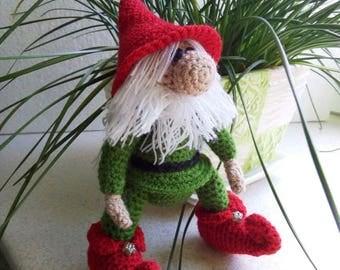 Christmas Dwarf, Christmas Gnome, Home Decor, Elf toy, Amigurumi