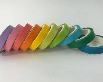 10 pc multi coloured washi tapes
