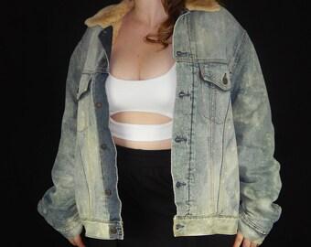 Vintage Oversized Levi's Bleached Denim Jacket