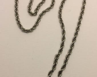 Sterling silver rope chain necklace #464