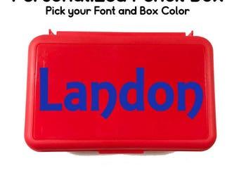 Personalized Pencil Box - Personalized School Box - Back to School - School Supply Box - Custom Pencil Box - Art Supply Box - School Boxes