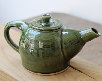 Deep green Teapot - handmade, pottery, ceramics and tableware.