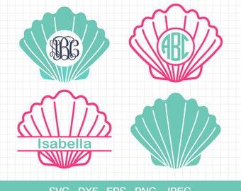 Shell SVG Mermaid Shell svg SeaShells SVG Vinyl Cutters Cutting Files Summer svg for Cricut & Silhouette Files Svg Dxf Eps Jpg Png