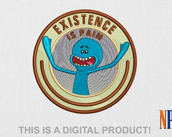 Mr. Meeseeks machine embroidery design. Rick and Morty. Embroidery file