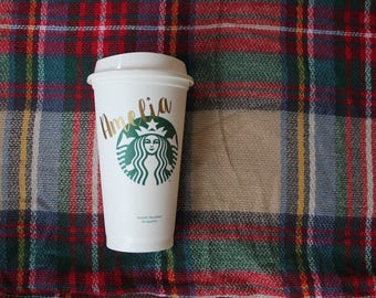 Personalized Starbucks Cup/Bridesmaid Gift/Teacher Gift/