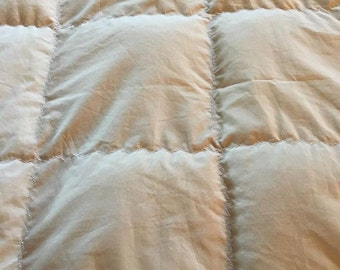 Adult Weighted Blanket Luxury Cotton, Sand Color, Egyptian Cotton Weighted Blanket