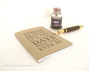 To Do List Book - Hemingway Quote Notebook   Undated Free Journal, Open Diary Bujo - A6 Cahier Insert, TN Fauxdori   Stocking Filler