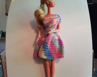 Rainbow doll dress
