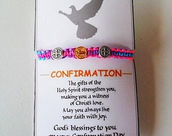 CONFIRMATION GIFT -  St Benedict Blessing Bracelet / Medjugorje / Kids / Blessed