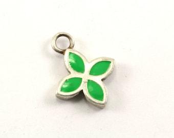 Vintage Authentic Pandora Green Enamel #390120 Pendant 925 Sterling PD 1147-E