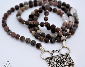 The Nurture Yourself Mala - Artistic Jasper