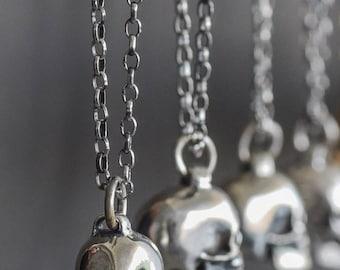 Skull Necklace | sterling silver | silver skull | skull pendant | silver necklace | handmade skull | skull jewelry | handmade necklace | 925