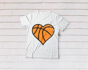 Basketball svg, basketball heart svg, Basketball mom svg, T-shirt, SVG Files, Cricut, Cameo, Cut file, Files, Clipart, Svg, DXF, Png, Eps