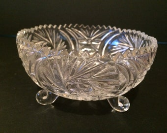 Vintage Glass Handmade Bowl - 1950