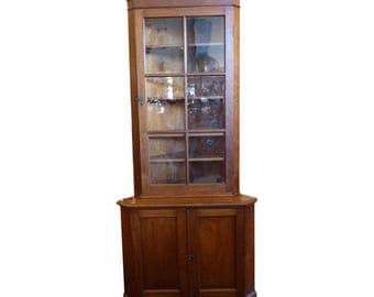 Early American Corner Cabinet