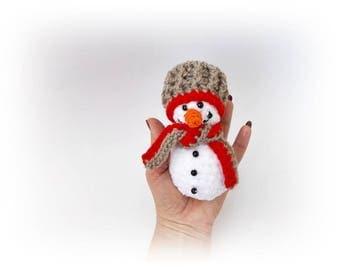 Snowman crochet Holiday decoration Christmas snowman Christmas gift ornament Snowman Doll Amigurumi Snowman Christmas Ornament Decoration