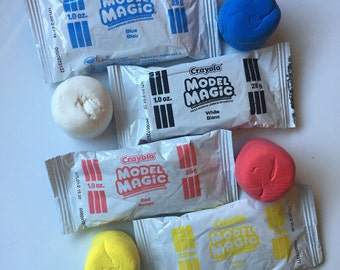 Model Magic Clay, Pack of 4, Color Model Magic Clay, Crayola Model Magic, Blue, Red, Yellow, White