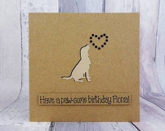Handmade Golden Retriever birthday card, Happy Birthday, Gun dog, Funny pun card, Personalise, Personalize, Name, Age, Punny, Father's Day