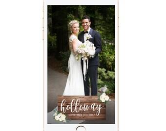 Wedding Snapchat Filter | Wedding Geofilter | Snapchat Geofilter | Wood Sign Wedding Geofilter | Last Name Geofitler