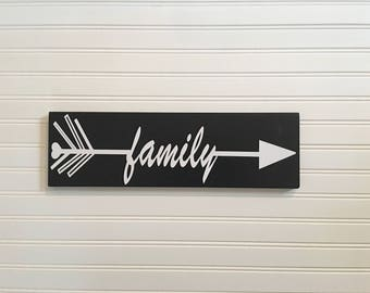 Wood Sign Home Decor, Wood Arrow Sign Decor, Arrow Sign, Name Arrow, Wooden Arrow Sign, Tribal Arrow Decor, Gift for Her, Gift for Him