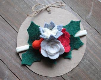 Felt Flower Headband / Christmas Headband / Toddler Flower Headband