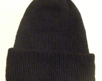 Mens knit hat, mens knitted hat, hand knit hat, knit hat mens, mens beanie, Mans hat, winter knitwear, Winter hat, Wooly hat, Black color