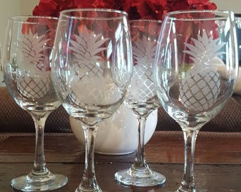 Pineapple Wine Glasses