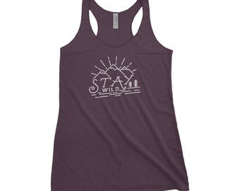 Stay Wild Adventure Adventure Next Level Ladies Tri-Blend Tank