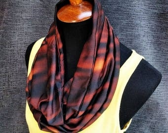 Black and Brown Infinity Scarf, Brown Scarf, Neutral Colors, Fashion Scarf, Infinity Scarf, Dressy Scarf, Unique Scarf, Caramel Scarf, Cowl