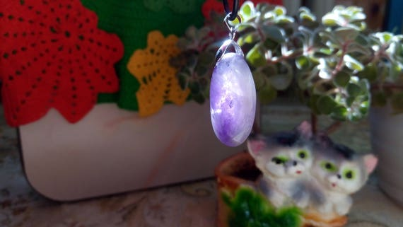 Amethyst pendant, crystal for meditation, magic crystal, natural stone pendant, natural stone nacklace, protection amulet