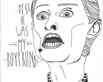 "Cloris Leachman in ""Young Frankenstein"" Print"
