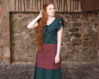 Burgschneider Medieval Viking Short Sleeved Cotton Dress Agga