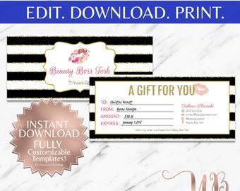 LipSense | LipSense Gift Certificate | SeneGence Gift Certificate | LipSense Printable Gift Certificate | Makeup Gift Certificate | Floral