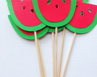Watermelon cupcake toppers/appetizer picks