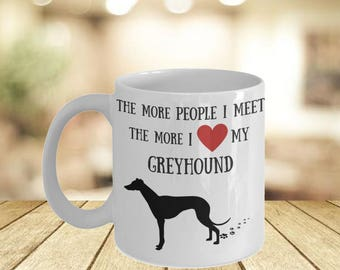 Greyhound Personal Mugs- Italian Greyhound Mug Idea For Her- Dog Mama His And Her Mug- Cute Dog Lovers Art Im With Her Mug- Mama Bear Mug