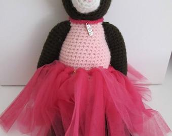 Crochet Teddy with Pink Tutu