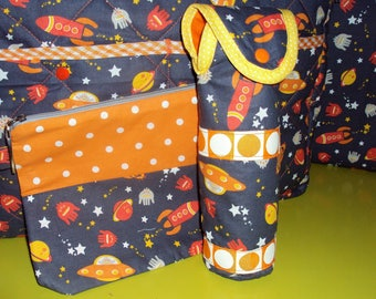 """Protective cover for 240ml bottle clutch """"in space"""" collection"""