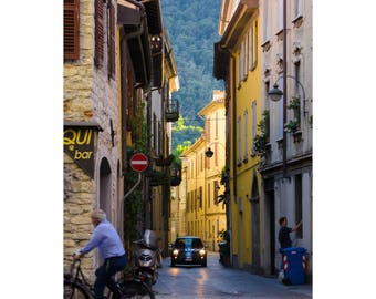 Italy photo Italy sreets Como photography Como streets Italy town Small town photo Summer vacations Italy photo print  - Relaxing and caln
