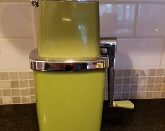 Vintage 1960-70's Swing-a-Way manual Ice Crusher