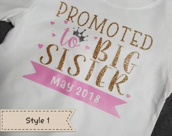 Promoted to Big Sister Shirt- Toddler