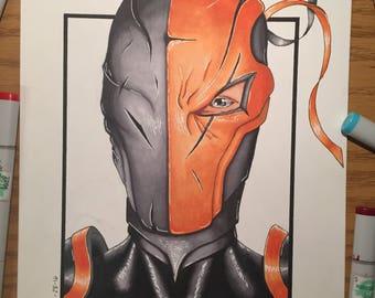 Deathstroke Marker Art Print