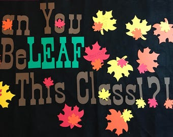 fall bulletin classroom door decoration