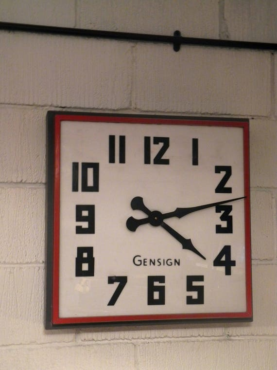1950's British Made Large Gensign Shop Front Clock